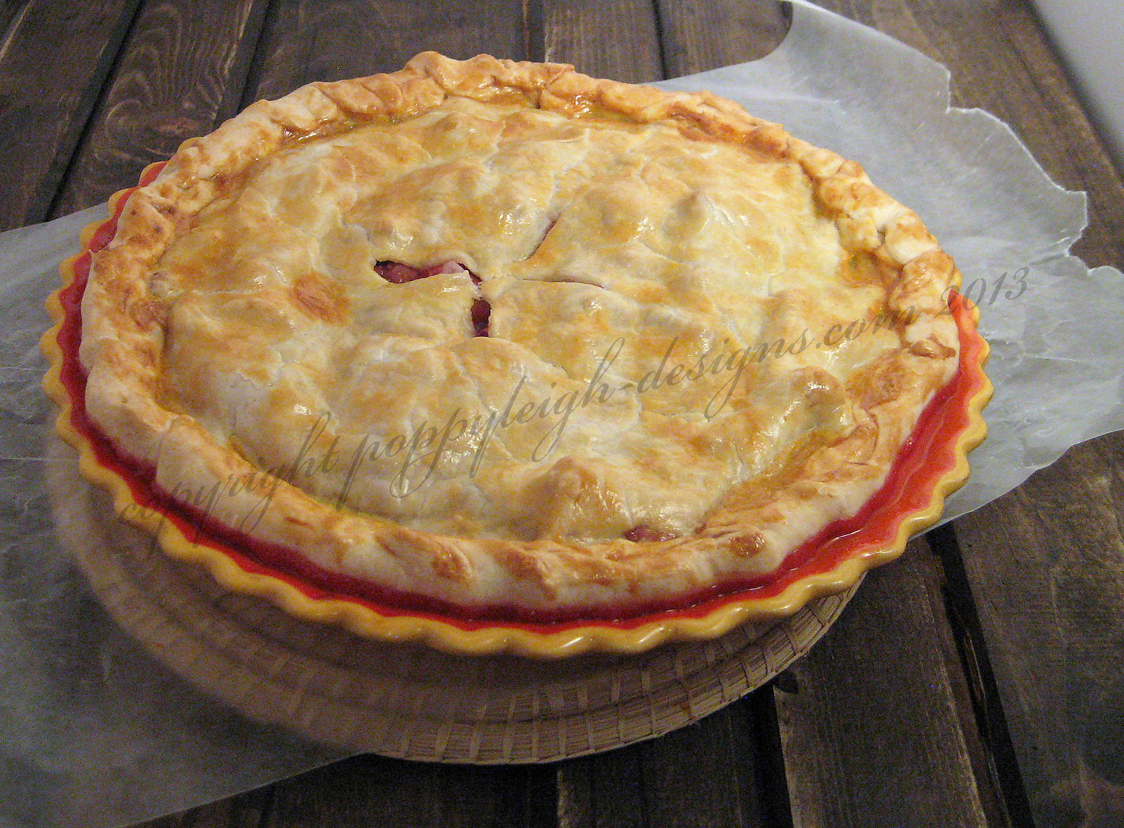 strawberry rhubard pie (2) WM