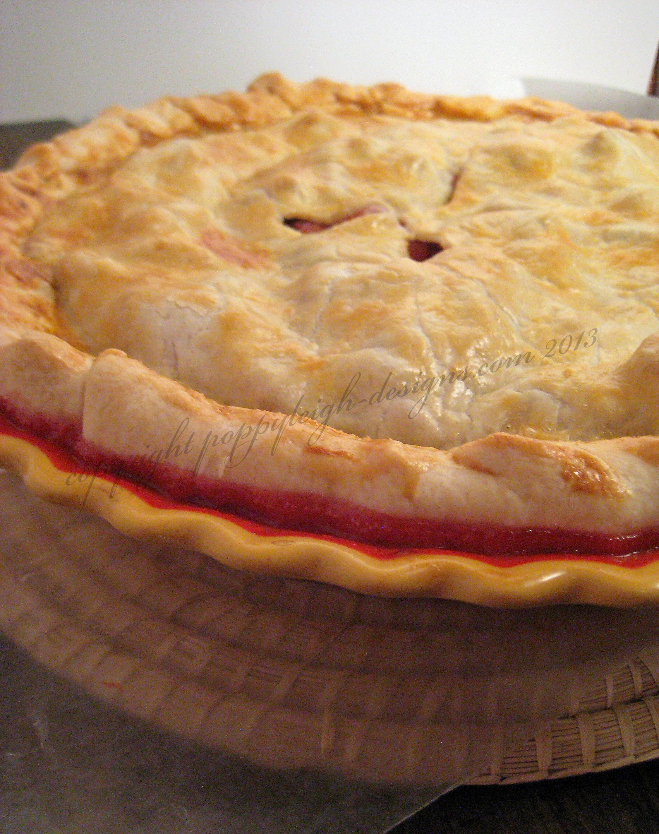 strawberry rhubard pie (3) WM