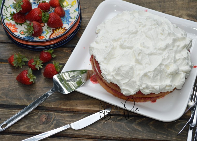 Sponge Cake with Strawberries & Rhubarb (1) QM